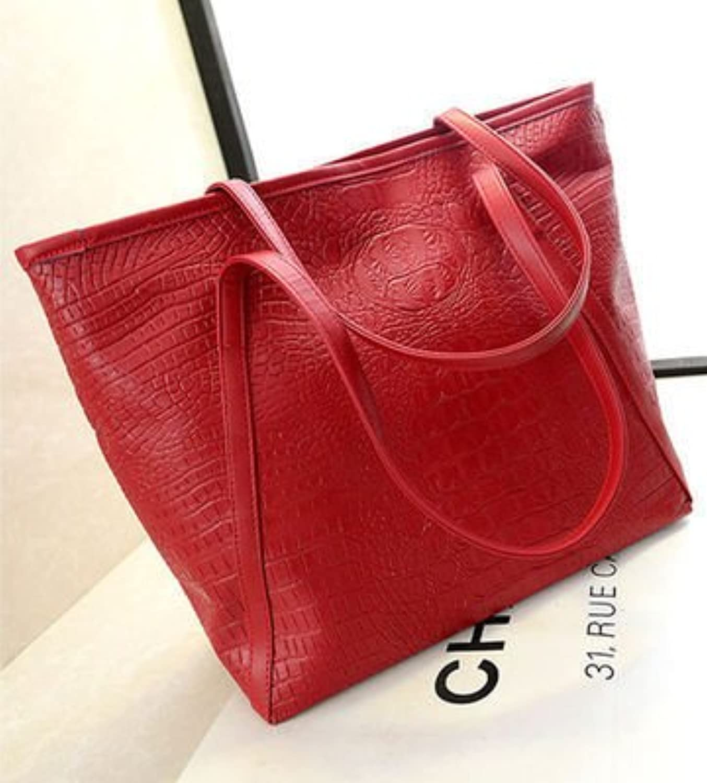 Crocodile Pattern Portable Shoulder Bag Fashion Handbags Retro Crocodile Pattern Handbag