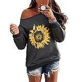 Camiseta Enfei Be Kind para mujer, diseño de girasol, divertida, inspiradora, para adolescentes y niñas (gris7, XXL)
