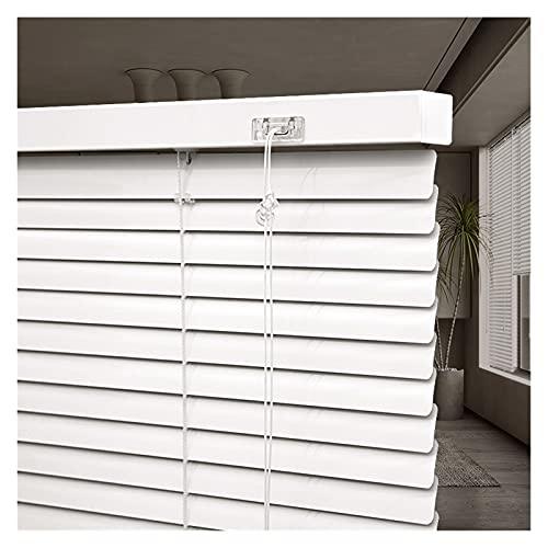 Persianas Venecianas Blanco Persianas venecianas de aluminio, 80cm / 100cm / 120cm / 140cm de ancho, Impermeable Apagón Persianas de Windows para dormitorio / cocina / baño, Listones de 2,5 cm de anch