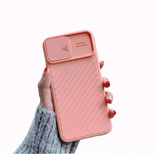 11pro - Carcasa para iPhone con funda deslizante, diseño de carcasa de silicona para cámara de fotos, color rosa
