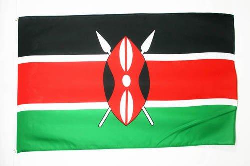 AZ FLAG Flagge Kenia 150x90cm - KENIANISCHE Fahne 90 x 150 cm feiner Polyester - flaggen