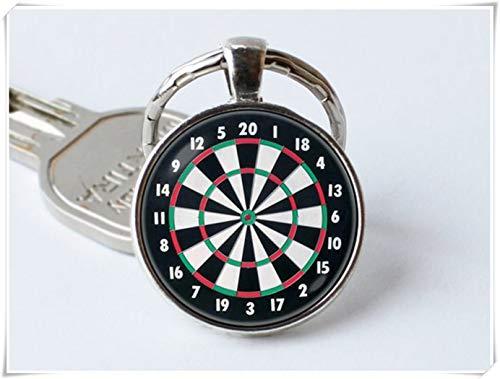 Dart-Schlüsselanhänger, Dartscheiben-Schmuck, Sport-Geschenk, Dartscheiben-Schlüsselanhänger, Dart-Schmuck