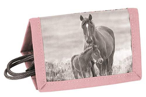 Theonoi tolle Geschenkidee Horses/Kinder Geldbörse/Geldbeutel/Portemonnaie/Brieftasche Pferd 01