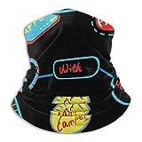 XCVD Ultimate Comfort Calentador de cuello Máscara facial Escudo Bandana súper protectora Diadema Go...