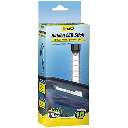 Tetra Hidden LED Stick 6 Inches, Brilliant White Aquarium Light for Tanks Up to 15 Gallons, Model Number: 26658