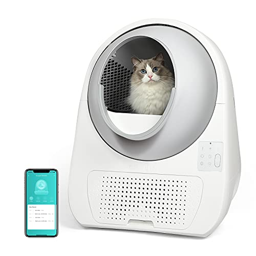 boqii Catlink Self Cleaning Cat Litter Box, [Multi-cat Recognition][No Scooping for 21 Days] Automatic Kitty Pretty Litter Boxes with 13L Ultra-Large Waste Box for Multiple Cats