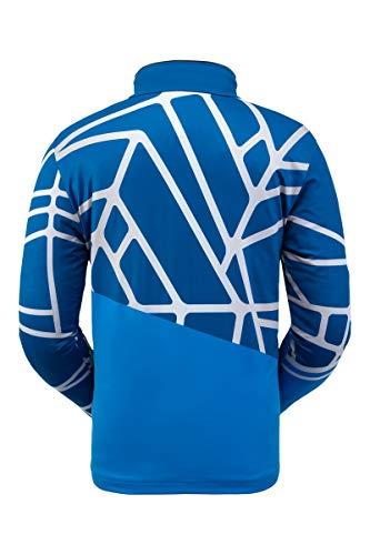 Spyder Herren Vital Zip T-Neck - Pullover Langarm Active Shirt, Herren, Vital Zip T-Neck, Lagoon, Large