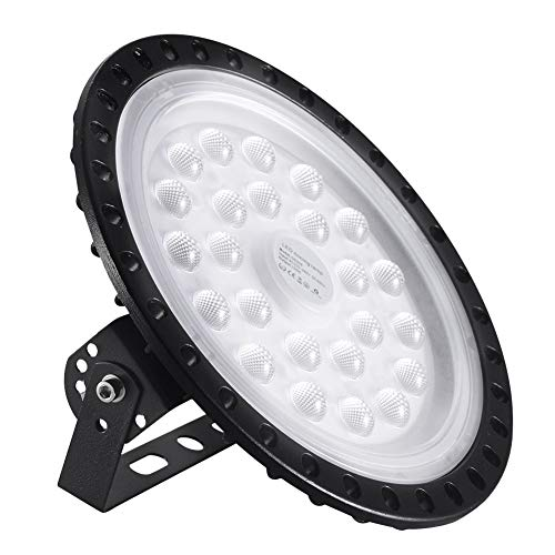UFO LED Industrielampe, Bellanny 100W LED High Bay Licht, 8000LM LED Strahler, 6500K Kaltweiß Scheinwerfer Werkstattlampe Hallenstrahler Industrieleuchte, für Fabriken,Garage,Lager,Dock