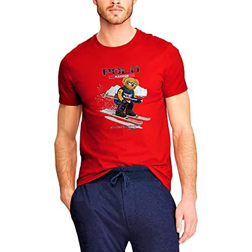 Polo Ralph Lauren Camiseta para Hombre Polo Bear Racing (M, Red)