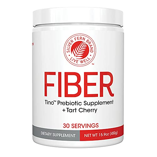 Tino Natural Gluten Free Prebiotic Fiber Supplement - with Tart Cherry Extract & Polycan Black Yeast Extract - Non-GMO, Water Soluble Fiber Powder Mix (1 Canister - 15.9 Oz)
