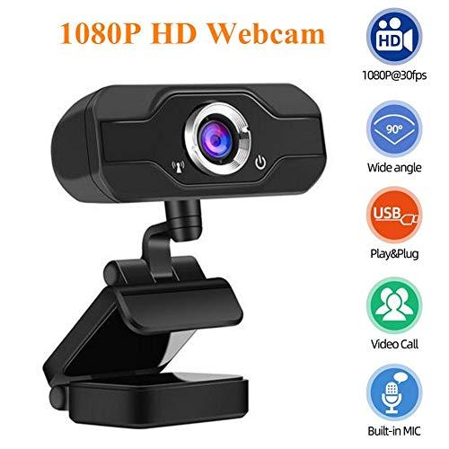 Full HD Webcam 1080P, USB Streaming Webcam, Computer Laptop Kamera mit Mikrofon, Digitaler USB-Videorecorder für Streaming, Konferenzen, Video-Chats, Webinare, Spiele, Fernunterricht