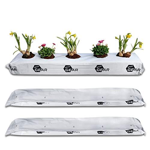 your GEAR 3X 25 L Coco Grow Bag 3X 2kg gepresste Kokoserde Aussaat Beutel Kokosfaser Pflanzbeutel Anzucht Blumenerde ungedüngt torffrei