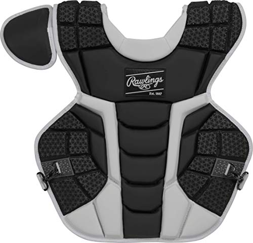 Rawlings Mach Adult NOCSAE Baseball Catcher's Chest Protector, Black