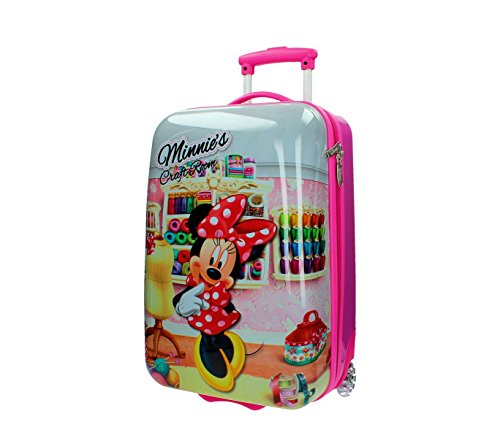 4751251 Trolley bagaglio a mano rigido in ABS Minnie Mouse 55 x 33 x 20 cm. MEDIA WAVE store