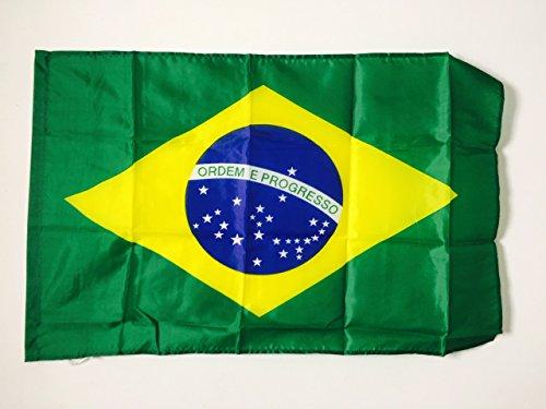 AZ FLAG Bandiera Brasile 90x60cm - Bandiera Brasiliana 60 x 90 cm Foro per Asta