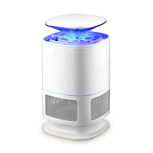 Tranquilla Lampada Anti-Zanzare, In-Line Elettronico Repellente Per Le Zanzare USB UV Light Killer Insetto Killer Silenzioso Senza Radiazioni Insetto Killer Per Interni Domestici (Bianca)