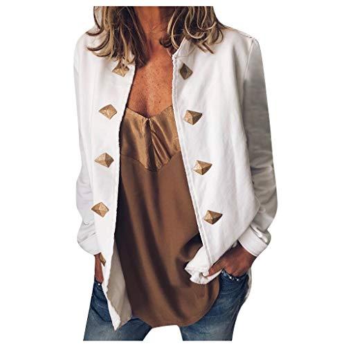 FRAUIT dames casual punk jas retro korte knoop mantel lange mouwen volle kleur mantel business vrije tijd korte blazer slim fit elegante kleding blouse tops outwear