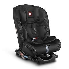 Lionelo Sander kinderzitje autozitje Isofix in en tegen richting Top Tether autostoeltje groep 0 1 2 3 vanaf de geboorte tot 36 kg ECE R 44 04 TÜV SÜD (zwart)*