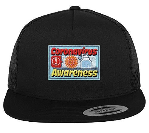 Coronavirus Awareness Hat - Adjustable Black Snapback Scout Cap