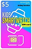 SpeedTalk Mobile $5 Preloaded SIM Card Kit for Kids Smart Watch GPS & Activity Tracking | 3 in 1 Simcard - Standard, Micro, Nano | Children GSM 5G 4G LTE Smartwatches Wearables | 30 Days Service Plan