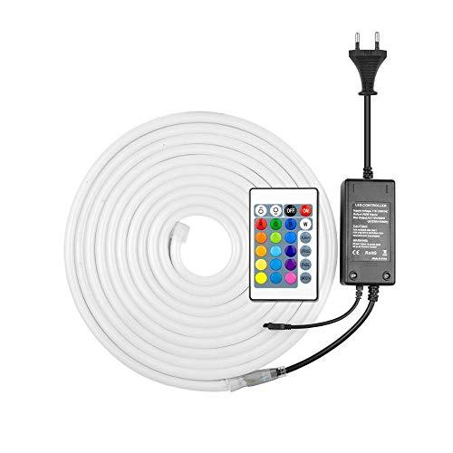 RGB LED Neon Light Sign 220V LED Strip Neon Lamp Met EU Adapter 1/2/3/4/5/6/7 / 8M Tape Lichtgevende Diode Buitenverlichting, 7M