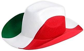 Cappello | Cowboy | Cowgirl | Tifosi Italiani | (00/0999) Travestimento | Costume | Carnevale | Halloween | Serata |...