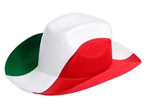 Alsino Cowboyhut Italien Fanhut 00/0999 Fußball grün weiß rot Fanartikel Fußballhut