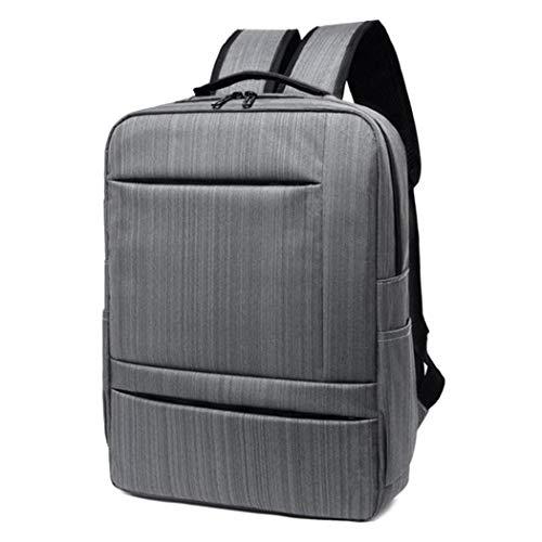 Solid Color Business Men Travel Laptop Backpacks Large Capacity Knapsack Double Zipper Laptop Business Backpacks Gray