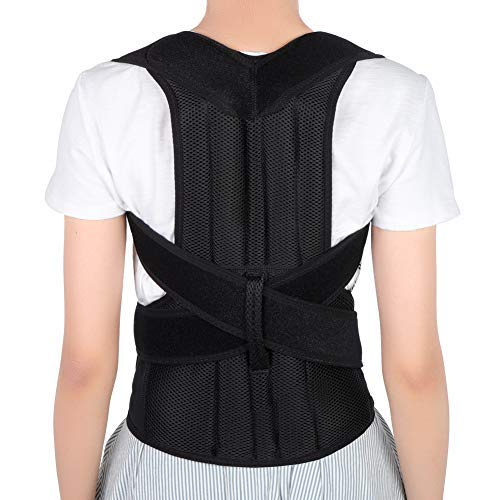 "Yosoo Health Gear Back Brace Posture Corrector Adjustable Back Shoulder Lumbar Waist Support Belt for Men and Women, Improve Posture, Prevent Slouching, Pain Relief (S 26""-31"")"