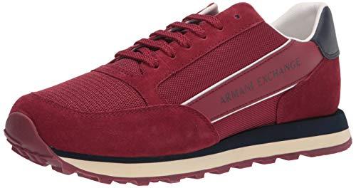Zapatos Deportivos Armanio Exchange para Hombre, Ante inglés, Color Burdeos - XUX083XV263D261 (Numeric_45)