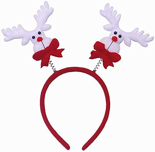 YUY Diadema navidea Cuerno de Reno rbol de Navidad Adornos Diademas de Disfraz para Fiestas navideas 2-2