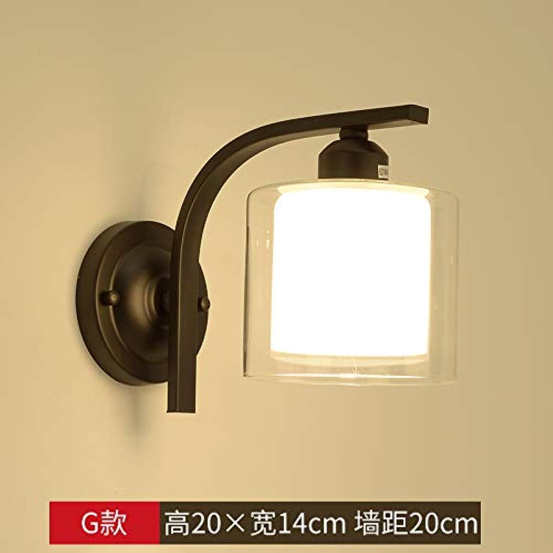 Lampara de parojo dormitorio moderno parojo lámpara de la lámpara de cabecera creativo corrojoor de entrada escalera de madera de Corea para la iluminación de parojo de madera, XC-G-vatios bombilla párr