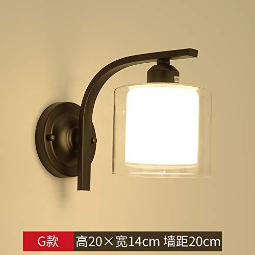 Lampara de pared dormitorio moderno pared lámpara de la lámpara de cabecera creativo corredor de entrada escalera de madera de Corea para la iluminación de pared de madera, XC-G-vatios bombilla párr