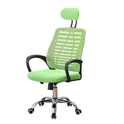 DJ Draaistoel, moderne minimalistische bureaustoel van mesh, voor thuiscomputerstoel, persoonlijke vergaderstoel, sponszitting, in hoogte verstelbaar, draaibare directiestoel, studentenstoel groen