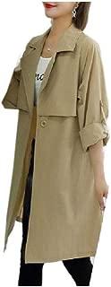 neveraway Women Below The Knee Premium Fashional Wild Plus-Size Coat Jacket