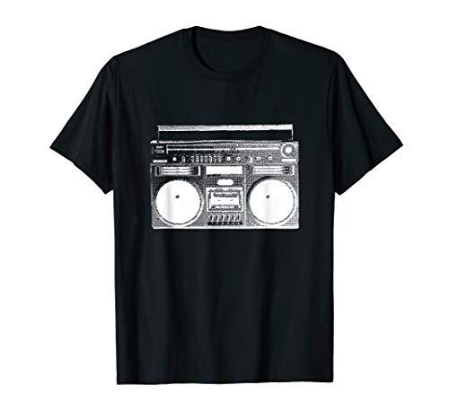Ghettoblaster im 80er 90er Jahre Style als Retro Vintage T-Shirt