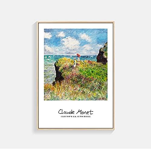 Carteles e impresiones artísticos de Monet Van Gogh, cuadros de pintura, pintura en lienzo, decoración de sala de estar, decoración mural, arte abstracto n. ° 7, 20x30cm