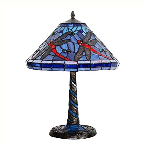 Lamparas De Mesa Salón Tiffany Azul Marca AUCHUIXBFB