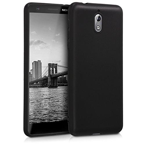 kwmobile Funda Compatible con Nokia 3.1 (2018) - Carcasa de TPU Silicona - Protector Trasero en Negro Mate