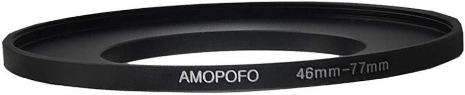 Anello adattatore per filtro step up da 46 mm a 77 mm anello adattatore in metallo per obiettivo fotocamera con filettatura filtro da 46 mm a 77 mm