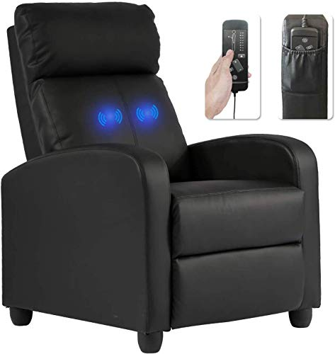 Recliner Chair for Adults Sofa Chair Recliner Massage Recliner Chair Ergonomic Lounge with Remote Control Gaming Recliner Chair Soft Reading Chair Living Room Chair Single Theater Seating Chair