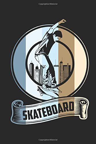 Skateboard Vintage: Graph Paper Skateboard Vintage / Journal Gift - Large ( 6 x 9 inches ) - 120 Pages || Softcover