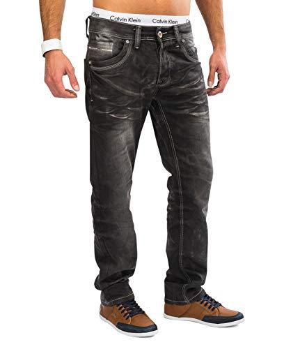 ArizonaShopping Jaylvis Herren Jeans Denim Hose Stretch Used H1625, Farben:Grau, Größe Jeans:W31
