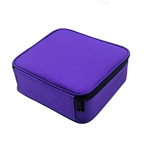 Sac à cosmétiques de voyage portable, boîte de rangement en tissu Oxford, sac de rangement pour artiste, compartiment réglable, multifonction pour ranger les pinceaux de cosmétiques, accessoires numér