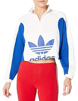 adidas Originals Women's Sweater White/Collegiate Royal Large
