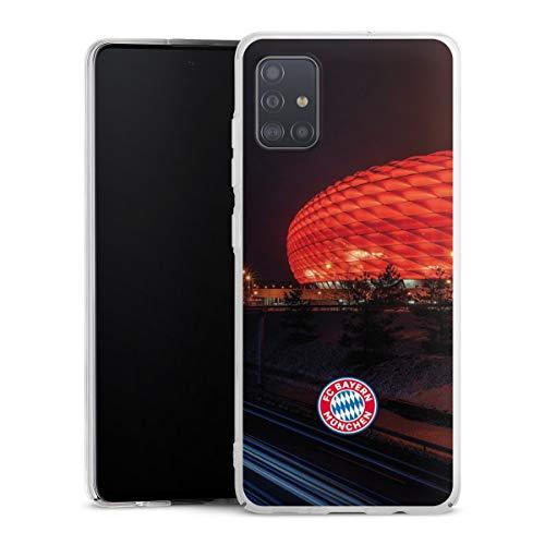 DeinDesign Hard Case kompatibel mit Samsung Galaxy A51 Schutzhülle transparent Smartphone Backcover FCB Stadion FC Bayern München