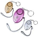 Vegena 3 Packs 140 DB Alarme Personnelle d'urgence, Safesound Alarme de sécurité...