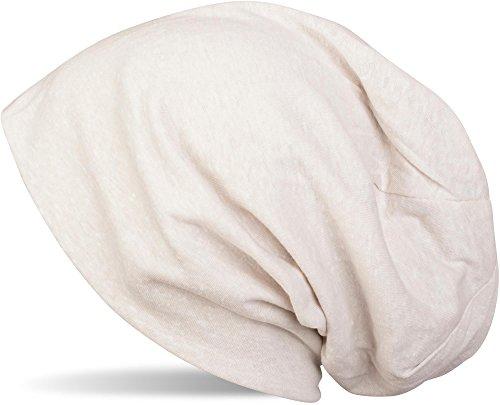styleBREAKER Klassische Slouch Beanie Mütze, leicht und weich, Longbeanie, Unisex 04024018, Farbe:Creme-Beige meliert