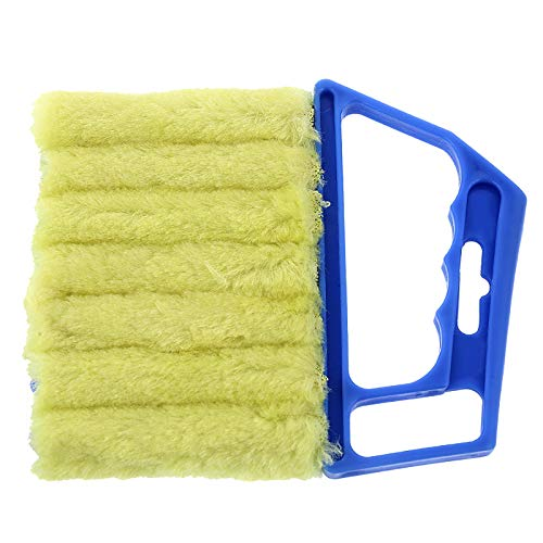 7 Finger Dusting Cleaner Tool-Mini Hand-held Blind Duster Brush-Window Blinds Duster -Air Conditioner Duster -Dirt Cleaner Housework Tool -Feather Dusters(2 pieces) (Blue)