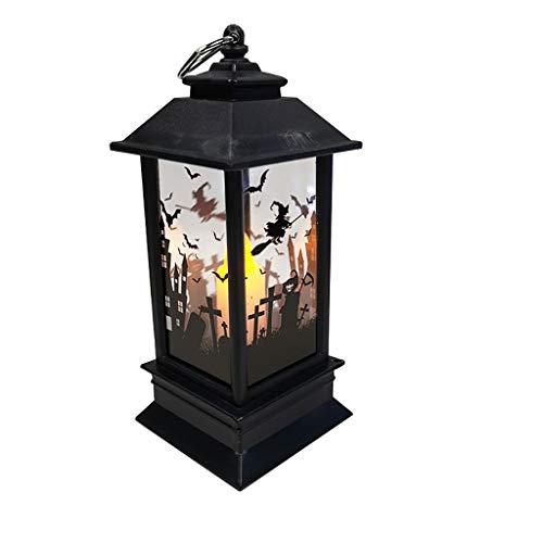 Escena de Halloween simulado luz de la Llama Diseño de la Barra...